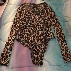 Long sleeve printed body suit
